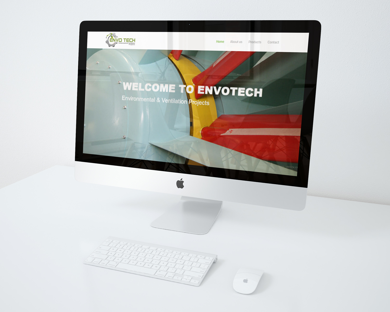 website design for envotech company